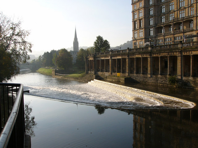 View south from near Pulteney Bridge