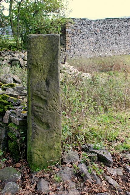 Gate post above Eyam View Farm