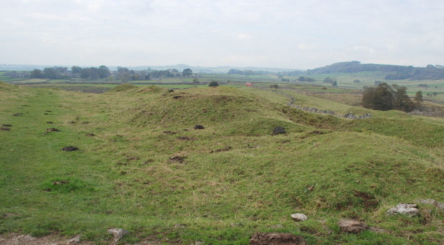 Spoil heaps above Foolow