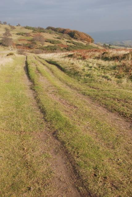 Track on top of Longstone Edge