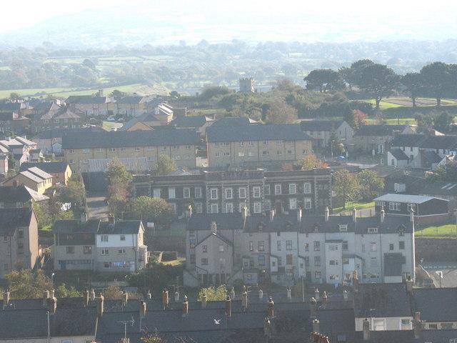 The Caernarfon Barracks in Llanberis Road viewed from Twthill