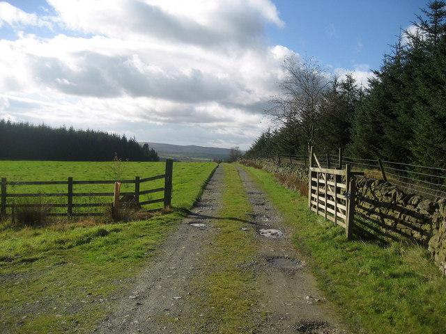 Access Lane from Heath Farm
