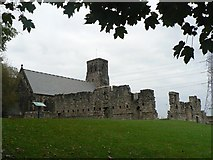 NZ3365 : Jarrow: remains of monastery by Chris Downer