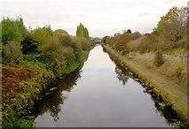 SE2419 : Calder and Hebble Navigation looking west from Thornhill Lees by Steve  Fareham