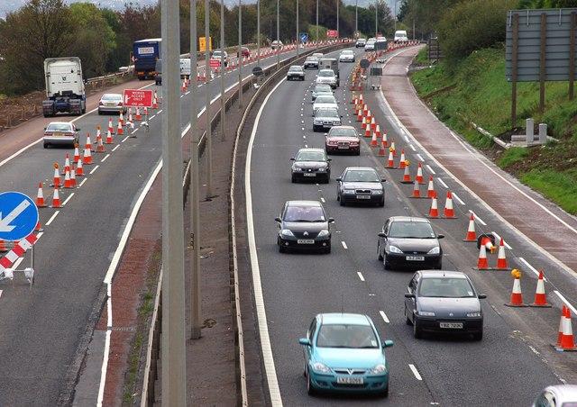 The M2 (northbound) at Glengormley (2)
