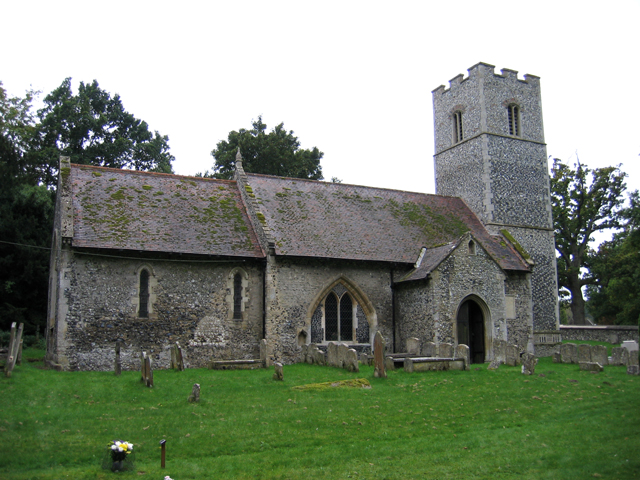 The parish church at Santon Downham, Suffolk
