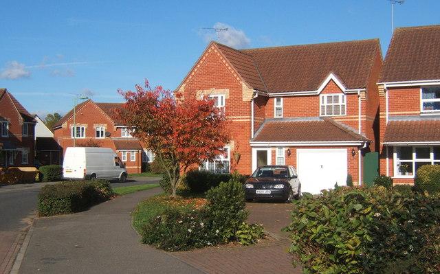 Part of modern housing estate, Great Blakenham