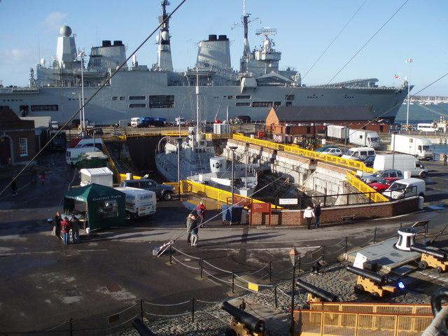 Warship in HM Dockyard