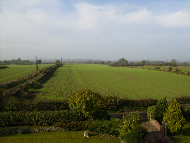 Broadrum Lane on the left with Riseborough in the distance