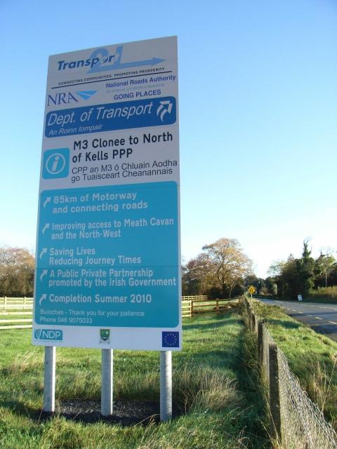 M3 Sign, N51 Athboy Road Near Navan