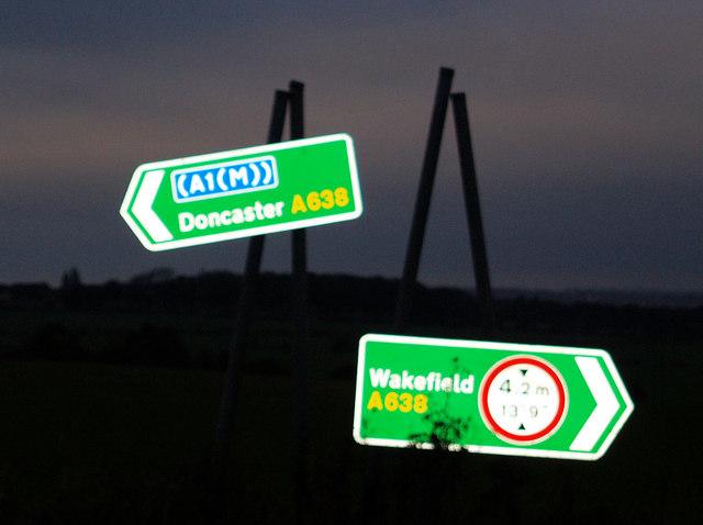 A638 junction near Badsworth