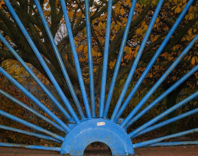 Close up of coal mining shaft wheel