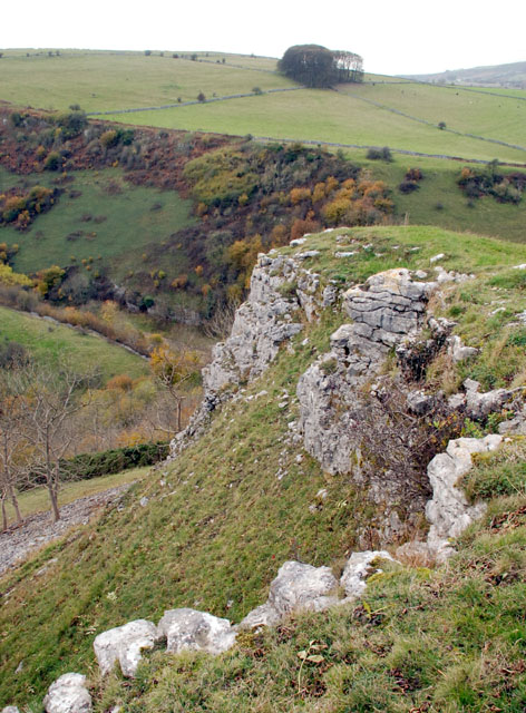 Limestone outcrop above Coombs Dale