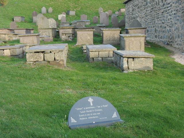 Box graves on the north side of Eglwys Hywyn Sant