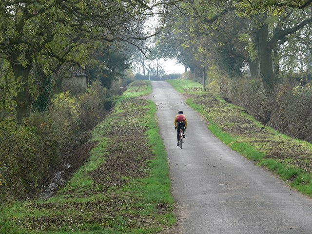 Cycling along Swinford Road