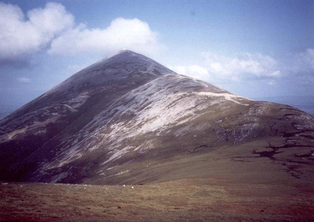 Croagh Patrick, the saddle on the western flanks