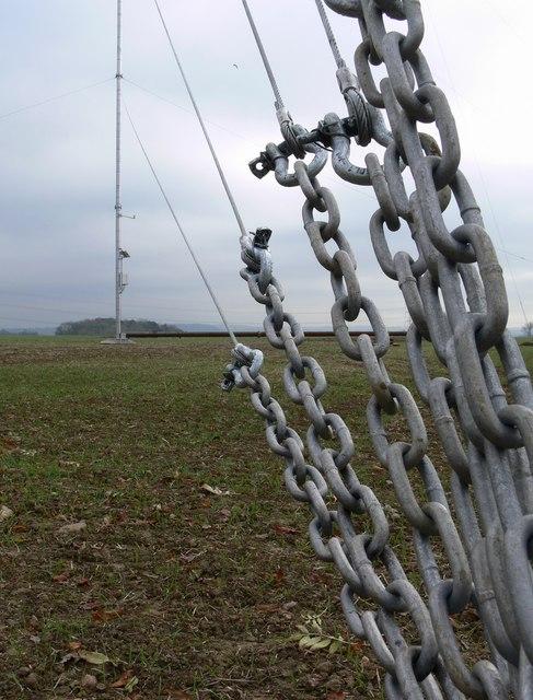 Temporary wind turbine test mast