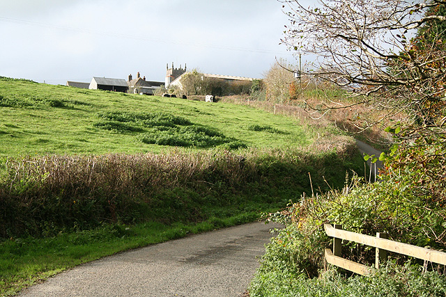 St Giles in the Wood: nearing the village