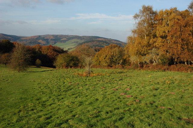 Offa's Dyke Path descending from the Kymin