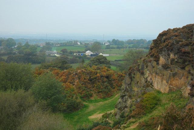 View north from Denham Hill quarry