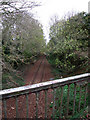 TF9916 : View upon disused railway line from bridge by Evelyn Simak