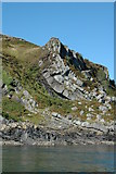 NM7103 : Folded strata on south-east Scarba by Nicola Lang