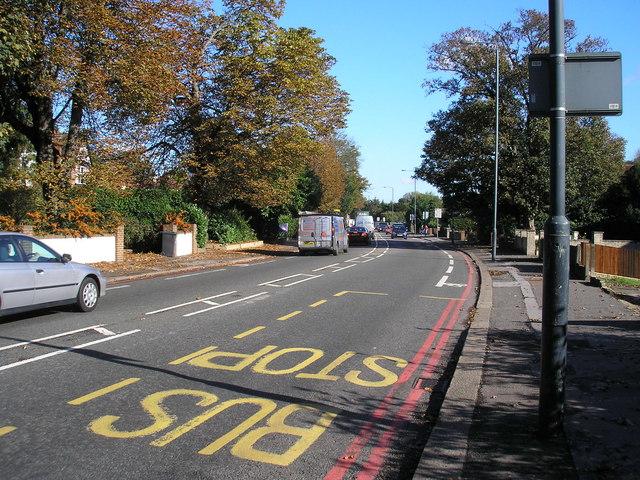 Brighton Road (A23). Looking north to Purley