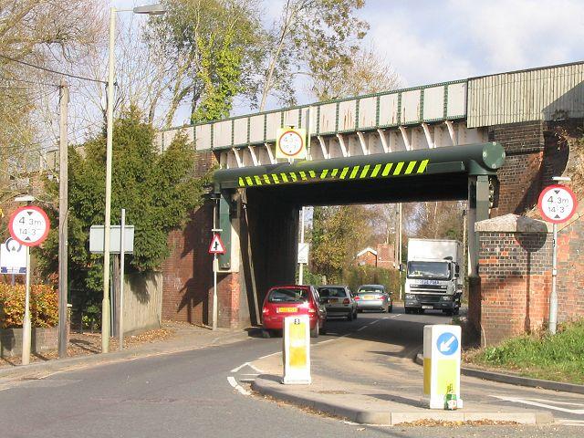 Railway bridge on the A3057  Romsey
