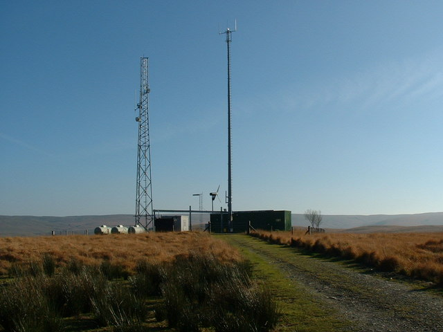 Radio mast at Cefn Llanerchi