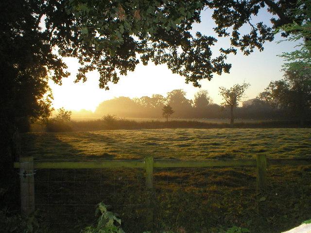 Autumn in Edmondthorpe looking towards Hall Farm