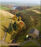 SE0118 : Ryburn reservoir from Baitings Dam by Anonymous