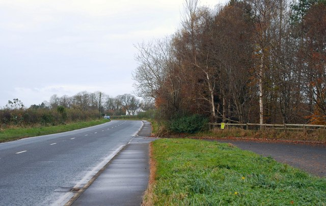 Road and layby at Dunadry