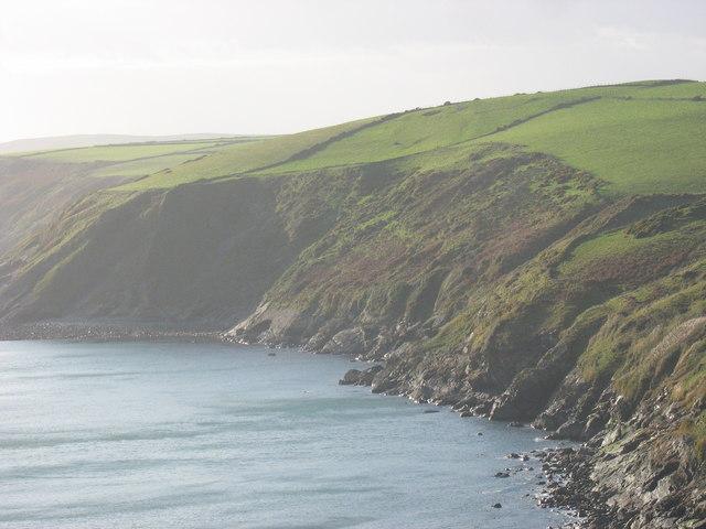 Gallt-y-Mor cliffs between Porth Ysgo and Porth Cadlan