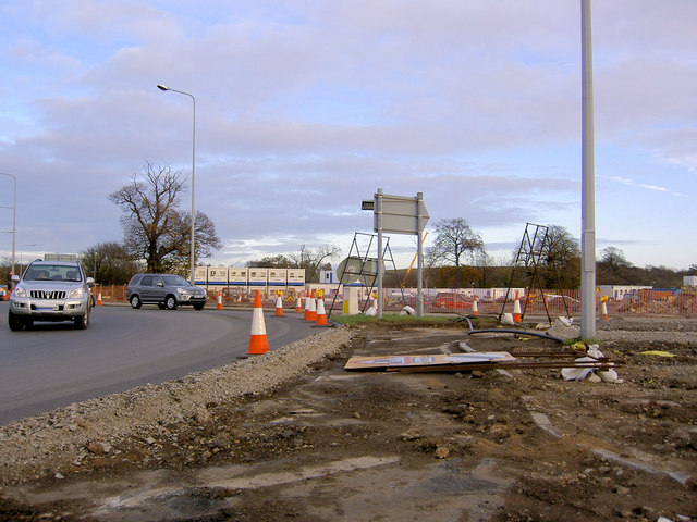 A1 improvements Wetherby roundabout
