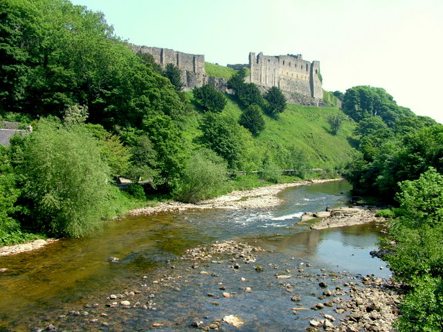 Richmond Castle from River Swale