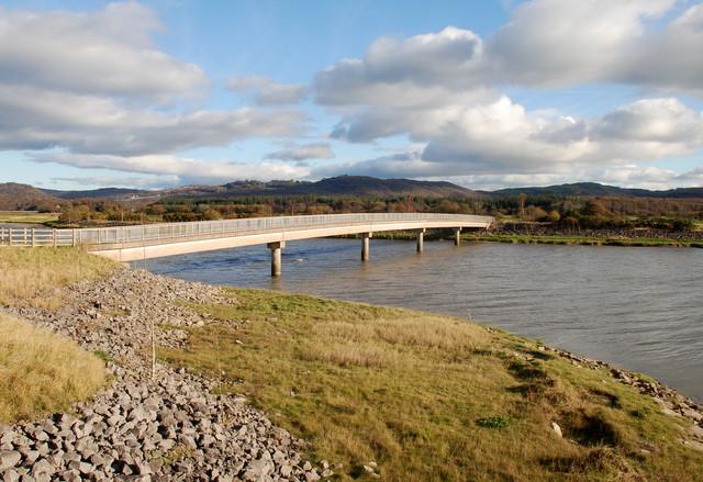Footbridge over the river Leven