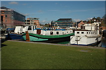 SO8453 : Boats moored in Diglis Basin, Worcester by Philip Halling