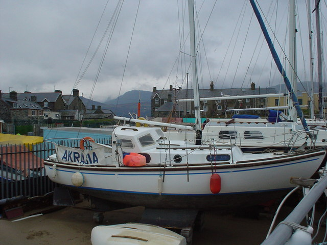 SH6115 Boats laid up for winter, Merioneth Yacht Club compound, Barmouth.