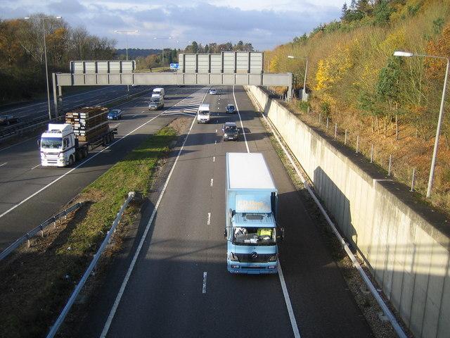 M40 Motorway Junction 1a