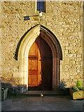 SD4455 : Christ Church, Glasson, Doorway by Alexander P Kapp