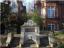 TQ2686 : Chalybeate well, Hampstead by ceridwen