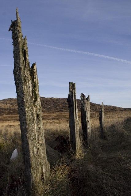 Remains Of Fence Loch Skerrow Halt