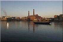 TQ2677 : Lots Road Power Station from Battersea by Derek Harper