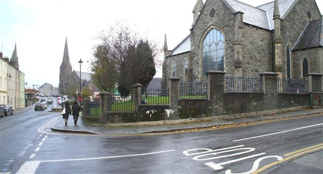 Site of old horse trough, Omagh by Kenneth  Allen