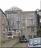 SM9515 : The backs of buildings in High Street, Castle Yard, Haverfordwest by Humphrey Bolton
