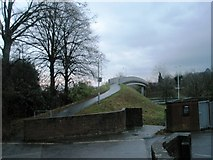 SU5806 : Bridge over A road near High Street by Basher Eyre