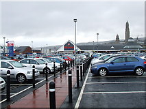 NS2776 : Tesco old car park by Thomas Nugent