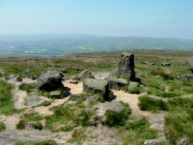The Aiggin Stone on Blackstone Edge