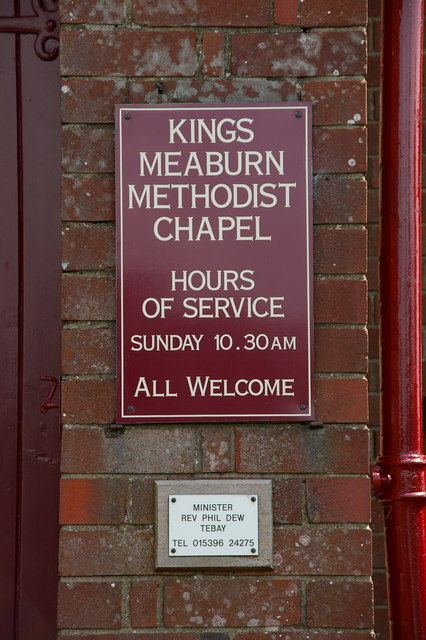 King's Meaburn Methodist Chapel, Sign