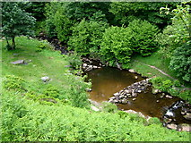 SD9628 : Colden Water at Hebble Hole by George Tod